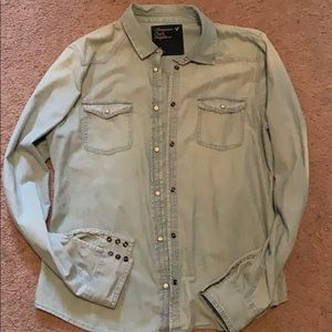 American eagle AE large button denim shirt